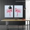Flamingo Bird Animal Abstract Modern Wall Art Print for Room Wall Molding