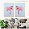 Flamingo Bird Animal Abstract Modern Wall Art Print for Room Wall Adornment