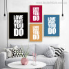 You Do Contemporary Quotes Painting Canvas Print for Living Room Wall Flourish