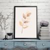 Leafage Botanical Nordic Canvas Artwork Print for Study Room Wall Decor