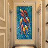 Shoal of Goldfish Animal Abstract Watercolor Painting Picture Canvas Print for Wall Getup