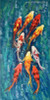 Horde of Goldfish Animal Abstract Watercolor Painting Picture Canvas Print