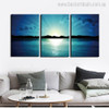 Sunrise at Sea Landscape Modern Canvas Artwork Portrait Print for Home Wall Getup