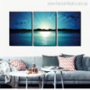 Sunrise at Sea Landscape Modern Canvas Artwork Portrait Print for Living Room Wall Ornament