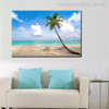 Beach Table Seascape Modern Landscape Painting Image Print for Living Room Wall Decor