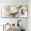 Hued Marble Abstract Modern Painting Picture Canvas Print for Dining Room Wall Decor