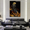 African Girl Nude Figure Modern Wall Art Print for Home Decoration