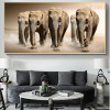 African Wild Elephant Animal Modern Painting Canvas Print for Lounge Room Wall Getup