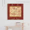 Faith Quotes Vintage Painting Picture Canvas Print for Home Wall Decoration