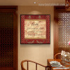 Faith Quotes Vintage Painting Image Canvas Print for Living Room Wall Outfit