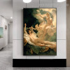 Biblical Angels Reproduction Vintage Canvas Artwork Print for Wall Adornment