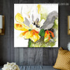 Chromatic Lotus Abstract Watercolor Framed Resemblance Photo Canvas Print for Room Wall Garniture