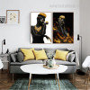 African Girls Modern Framed Figure Painting Picture Canvas Print for Lounge Room Wall Onlay