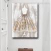 Modern Dress Abstract Framed Handmade Canvas Artwork Photo Print for Room Decor