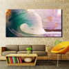 Sea Wave Seascape Landscape Modern Painting Picture Canvas Print for Study Room Wall Decor