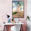 Woman with Parasol Impressionist Botanical Painting Picture Canvas Print for Living Room Wall Getup