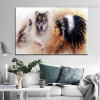 Tribal Girl Animal Framed Contemporary Painting Portrait Canvas Print for Wall Decor