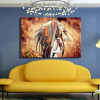 Feather Wench Modern Framed Figure Canvas Artwork Image Print for Room Wall Outfit