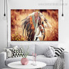 Feather Wench Modern Framed Figure Canvas Artwork Image Print for Room Wall Ornament