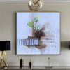 Colorific Flowers Abstract Watercolor Botanical Smudge Photo Canvas Print for Room Wall Decor