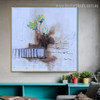 Colorific Flowers Abstract Watercolor Botanical Smudge Photo Canvas Print for Room Wall Onlay