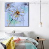 Chromatic Blooms Abstract Watercolor Framed Vignette Portrait Canvas Print for Lounge Room Wall Getup