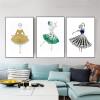 Gems Dress Abstract Modern Framed Canvas Artwork Portrait Print for Living Room Wall Drape