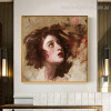 Lady Hamilton George Romney Reproduction Painting Image Canvas Print for Room Wall Disposition