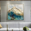 Golden Hills Abstract Framed Nature Scheme Photo Canvas Print for Room Wall Ornament