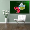 Chromatic Painted Lady Animal Framed Floral Modern Painting Picture Canvas Print for Room Wall Disposition
