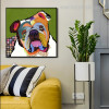 English Bulldogge Face Animal Framed Painting Image Canvas Print for Interior Wall Design