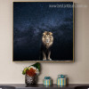 Wild Lion Animal Modern Framed Nature Painting Photo Canvas Print for Room Wall Outfit