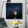 Wild Lion Animal Modern Framed Nature Painting Photo Canvas Print for Room Wall Adornment