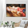 Day Dream Reproduction Painting Portrait Canvas Print for Room Wall Moulding
