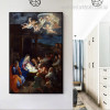 Adoration of Shepherds Vintage Reproduction Painting Picture Canvas Print for Room Wall Decor