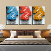 Flying Birds Abstract Contemporary Framed Smudge Picture Canvas Print for Room Wall Decor