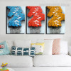 Flying Birds Abstract Contemporary Framed Smudge Picture Canvas Print for Room Wall Assortment