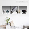 Stones Minimalist Framed Nordic Painting Photo Canvas Print for Room Wall Tracery