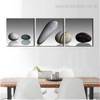 Stones Minimalist Framed Nordic Painting Photo Canvas Print for Dining Room Wall Drape