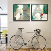Lovers in City Abstract Framed Modern Painting Photo Canvas Print for Room Wall Equipment