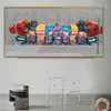 Little Children's Awesome Framed Graffiti Resemblance Image Canvas Print for Room Wall Onlay