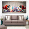 Little Broods Framed Graffiti Painting Photo Canvas Print for Living Room Wall Assortment