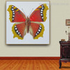 Eastern Comma Animal Framed Contemporary Smudge Picture Canvas Print for Lounge Room Wall Disposition