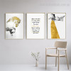Dona Abstract Animal Nordic Figure Framed Effigy Photo Canvas Print for Room Wall Finery