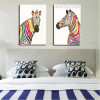 Shot Zebras Abstract Animal Framed Modern Painting Picture Canvas Print for Bedroom Wall Decor