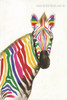 Calico Zebra Abstract Animal Watercolor Framed Modern Effigy Image Canvas Print