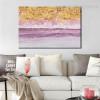 Money Wave Abstract Modern Framed Vignette Portrait Canvas Print for Living Room Wall Garnish