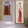 Distaff Abstract Modern Panoramic Framed Figure Painting Picture Canvas Print for Room Wall Garniture
