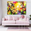 Dreamy Butterfly Abstract Animal Framed Painting Photo Canvas Print for Room Wall Decor