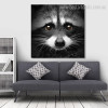 Raccoon Face Animal Modern Framed Painting Photo Canvas Print for Lounge Room Wall Adornment